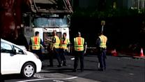 Elderly woman killed by garbage truck