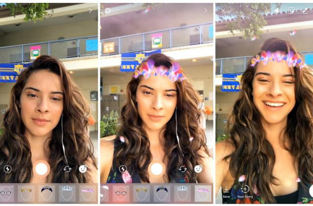 Instagram apes Snapchat yet again with face filters