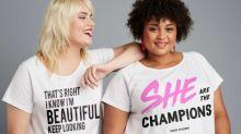 'I know I'm beautiful. Keep looking': Sassy new T-shirts champion size inclusivity