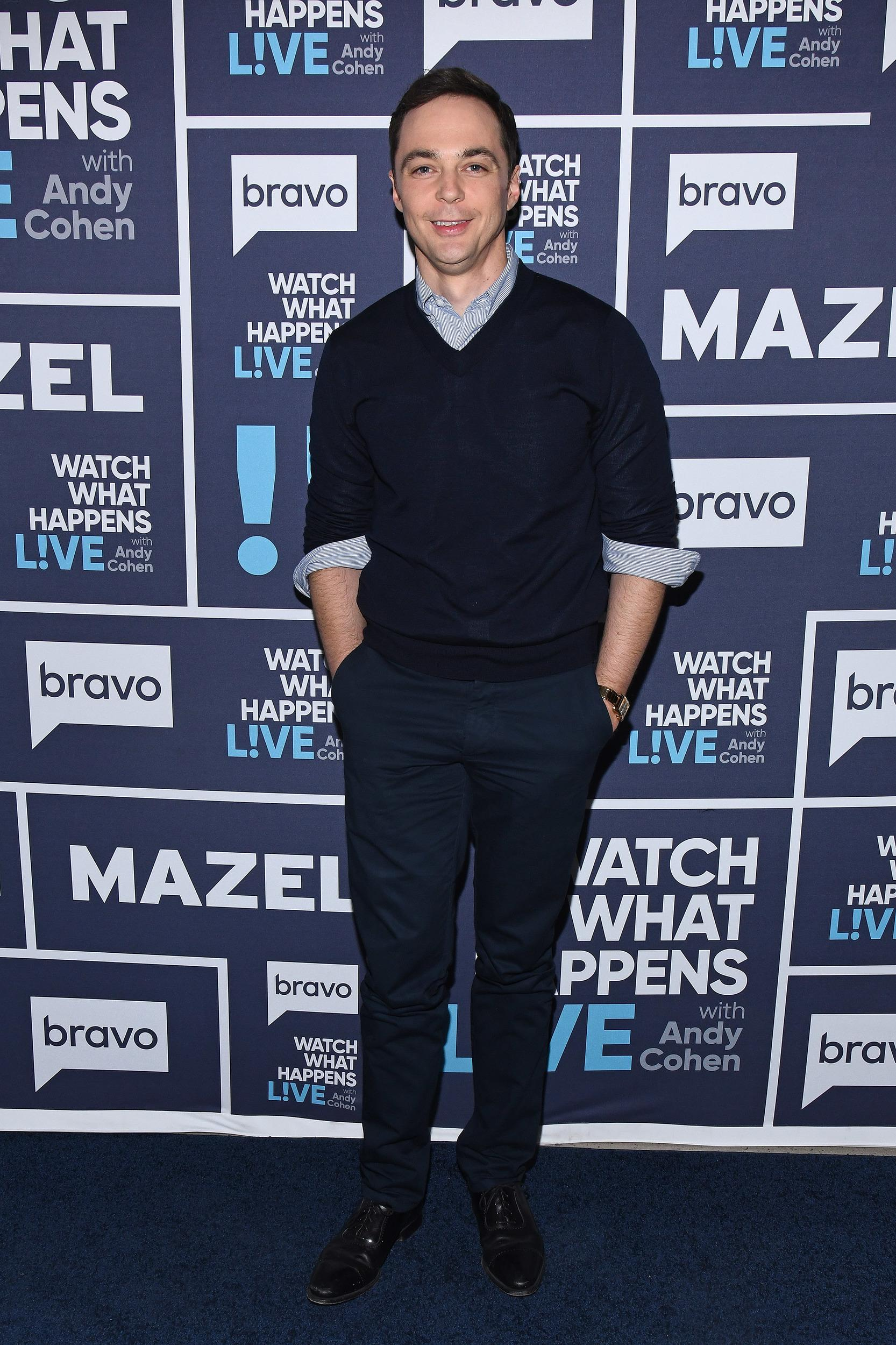 WATCH WHAT HAPPENS LIVE WITH ANDY COHEN -- Pictured: Jim Parsons -- (Photo by: Charles Sykes/Bravo/NBCU Photo Bank via Getty Images)