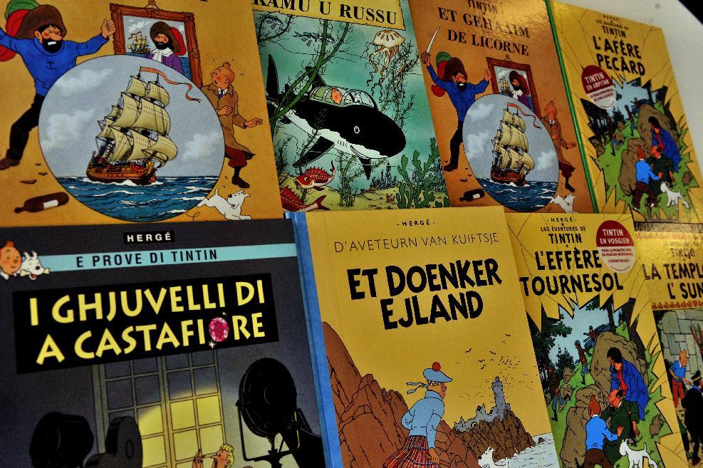 "The original cover design for Tintin adventure ""The Shooting Star"" has been sold for 2.5 million euros ($2.8 million) in a near-record for a work by the boy detective's Belgian creator Herge"