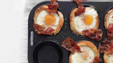 Bacon, Egg, and Toast Cups You Can Make in a Muffin Pan
