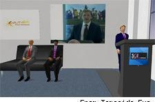 Culture Minister speaks in Second Life