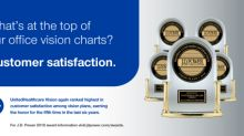 UnitedHealthcare Vision Plans Again Rank Highest in Customer Satisfaction in J.D. Power Report