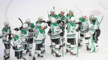 Stars use 4-goal 2nd to beat Avs, take 2-0 lead in series
