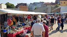 Flohmarkt: Trödelmarkt an der Markstraße im Visier des Ordnungsamtes