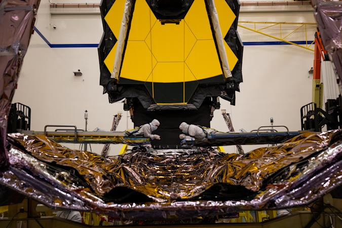 Work continues on NASA's James Webb Space Telescope.
