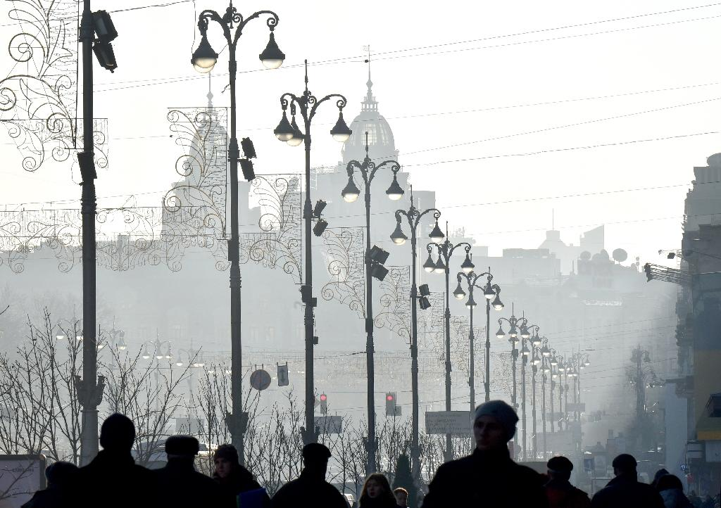 Temperatures in the capital Kiev had plunged as low as minus 15 degrees Celsius (5 degrees Fahrenheit) last week
