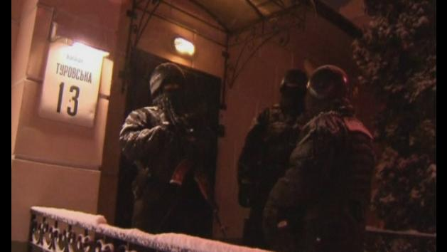 Ukraine opposition party raided by masked armed men in Kiev