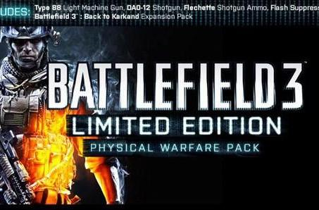 Battlefield 3 gets 'physical' in UK with Limited Edition