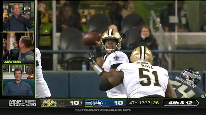 Best of Drew Brees with Manning bros on 'MNF' Week 7