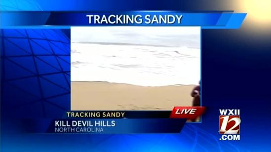 Stephanie reports Monday evening from Kill Devil Hills
