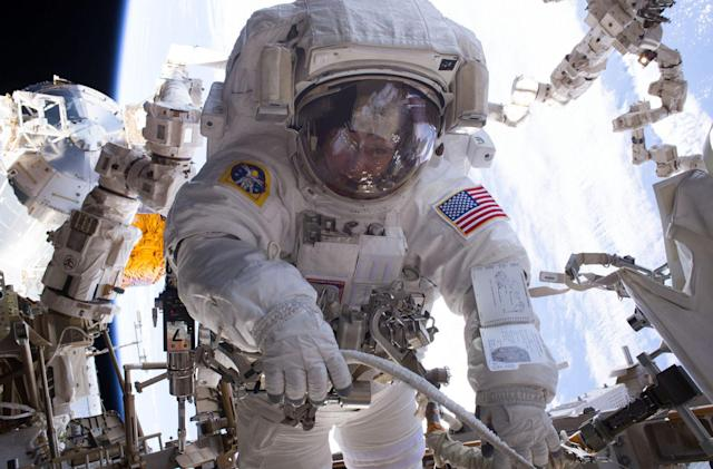Watch astronaut Peggy Whitson's historic spacewalk