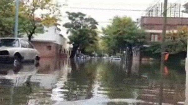 Flash flooding in Buenos Aires
