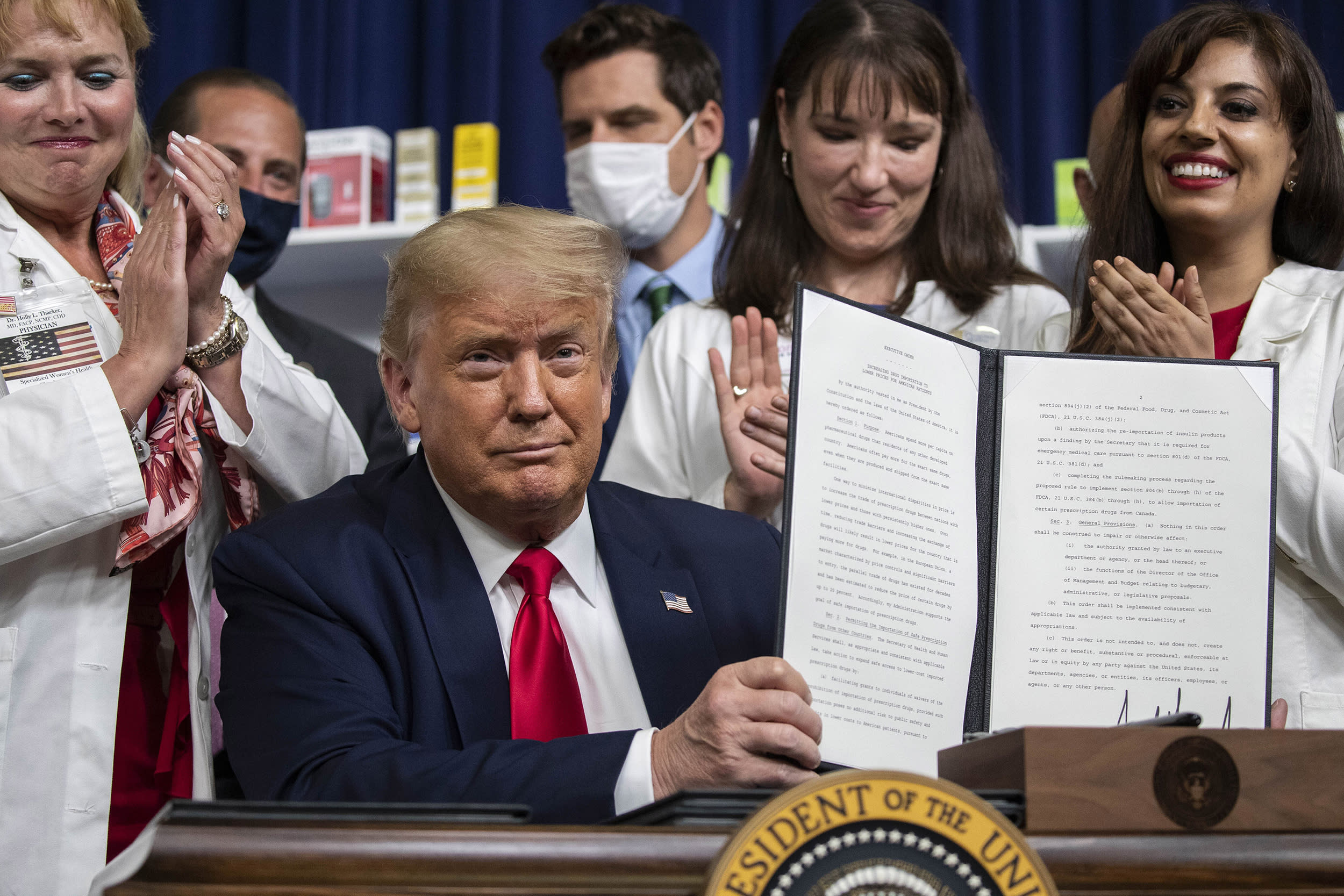 With no new law to curb drug costs, Trump tries own changes for cheaper meds