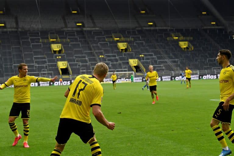Odd sights from Bundesliga comeback