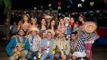 Com Neymar e Medina, Anitta curte festa junina até o amanhecer em sua mansão