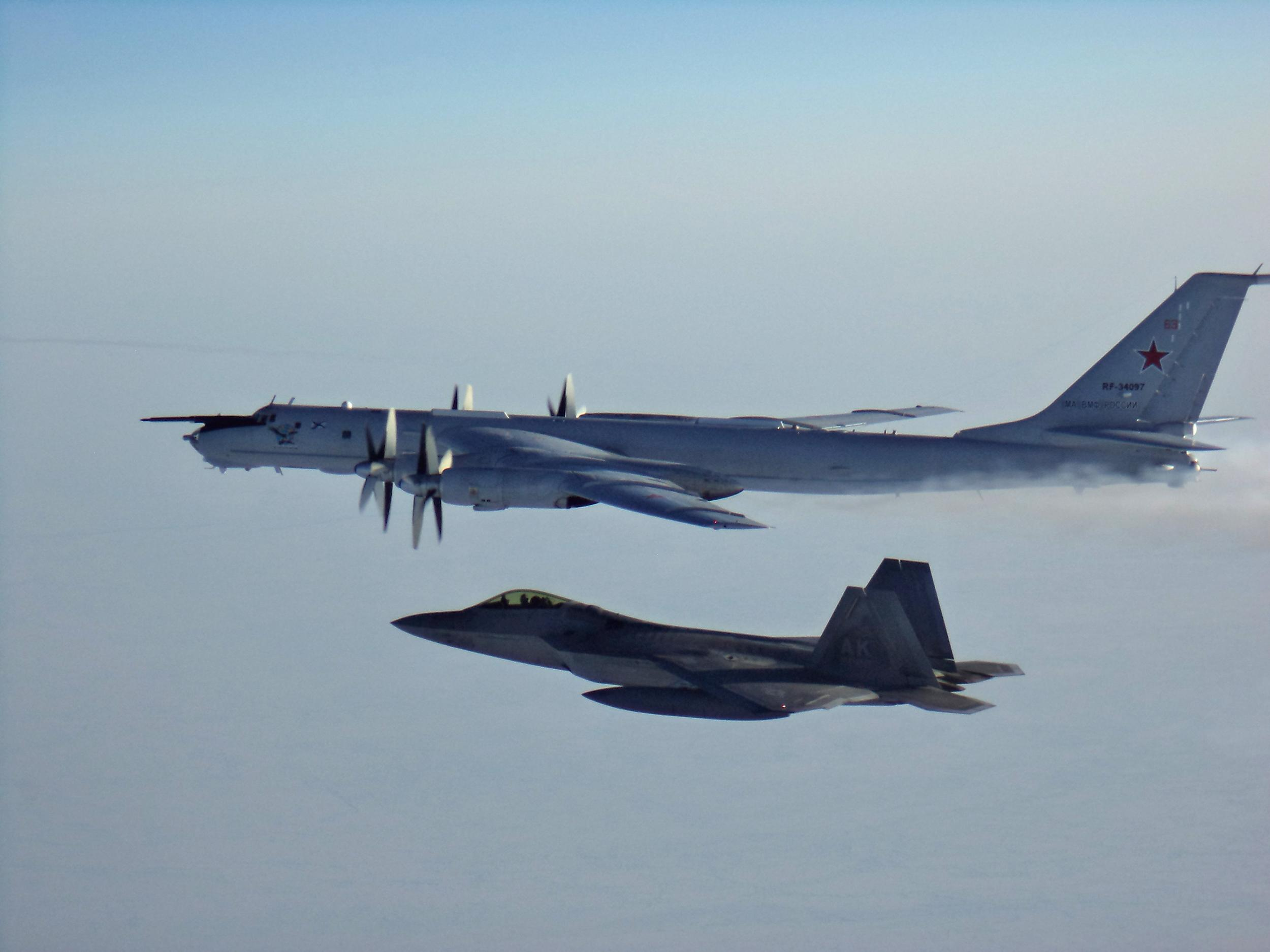Watch Russian aircraft off Alaskan coast intercepted by U.S., Canadian jets