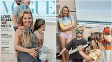 Elsa Pataky y sus hijos, protagonistas del nuevo número de Vogue Australia