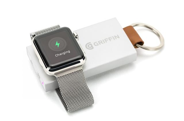 Griffin's Travel Power Bank is a keychain-sized Apple Watch charger