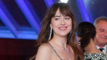 Dakota Johnson Wears A Glitzy Blush Gucci Gown To Marrakech International Film Festival