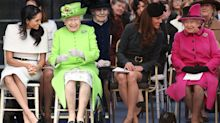 The similarity between a photo of Kate and Meghan's first outing with the Queen is uncanny