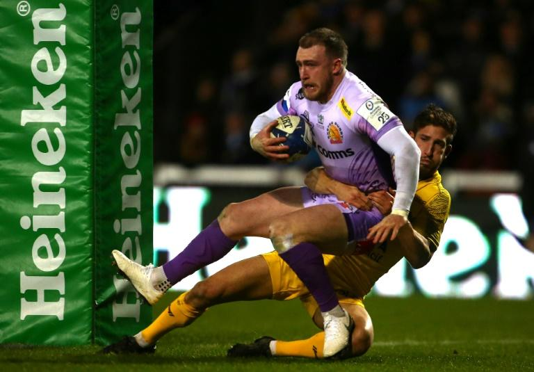 Stuart Hogg's Exeter Chiefs top the table with nine rounds of the regular season to play