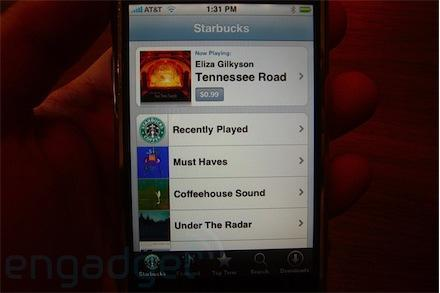 Apple and Starbucks iTunes WiFi integration hands-on
