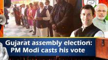 Gujarat assembly election: PM Modi casts his vote
