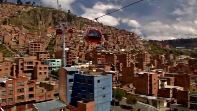 Bolivia opens world's highest urban cable car