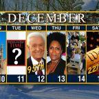 Calendar: Week of December 10