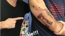 'Siempre digo que es el último y...': el nuevo tatuaje de Jorge Rial