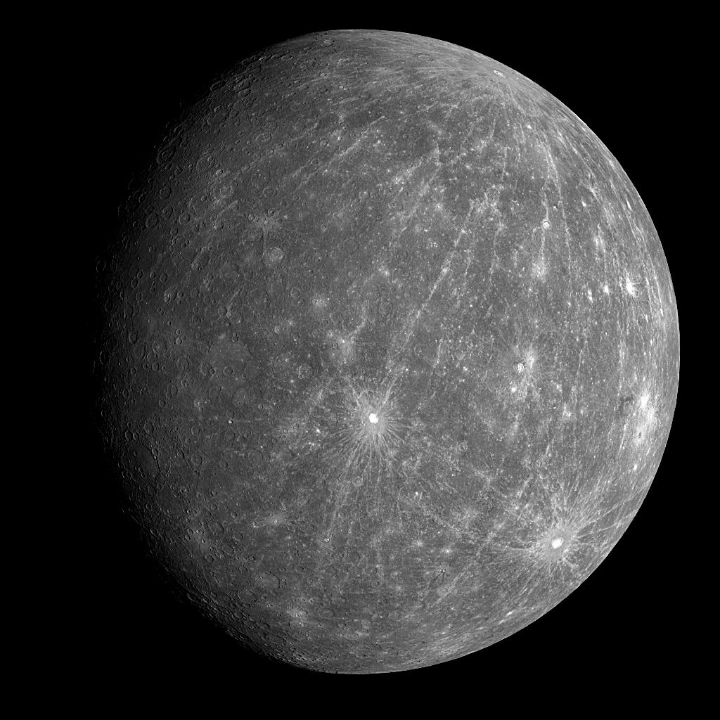The smallest recognised planet in the Solar System, Mercury completes an orbit every 88 days, and passes between the Earth and the Sun every 116 days (AFP Photo/)