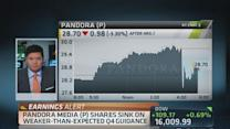 Pandora meets expectations, drops on guidance