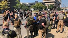 Live updates from weekend protests: Armed militias arrive in Louisville; accidental gunshots reported