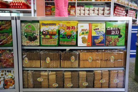 Products Are Displayed In A Shop In A Newly Constructed Residential Complex After Its Opening Ceremony