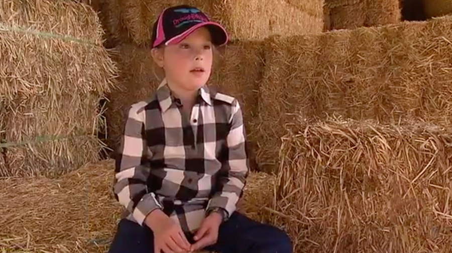Young girl's heartwarming act of kindness for drought-stricken farmers