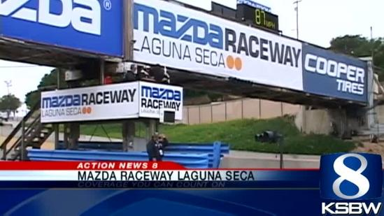 Michelle Imperato on the Mazda Raceway Laguna Seca racetrack