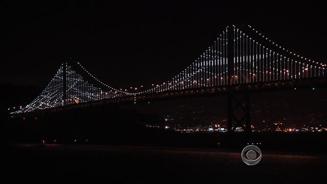 Art show lights up San Francisco's Bay Bridge