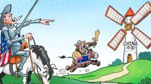 Chinese newspaper runs cartoon mocking Australia as 'yes man to US'