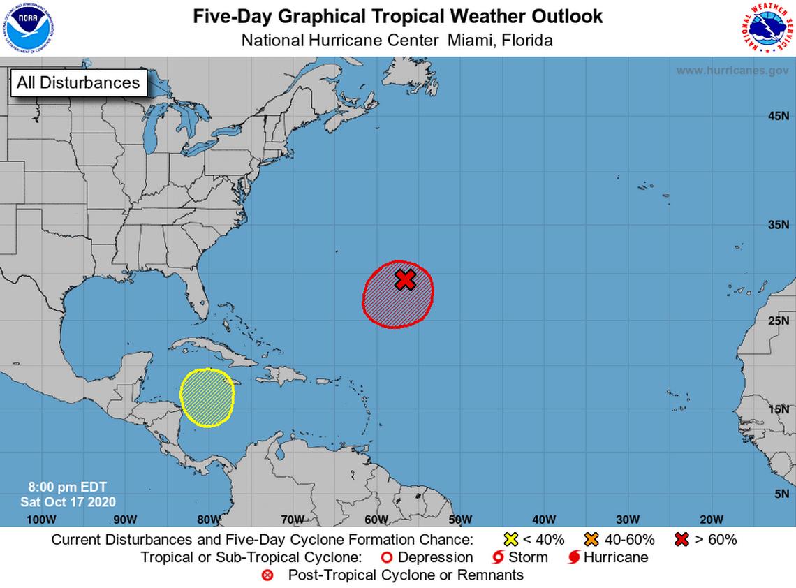 Atlantic disturbance near Bermuda forecast to form into storm or depression soon, NHC says
