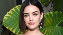 Lucy Hale Just Dyed Her Hair From Jet-Black To Bright-Red — In Her Kitchen Sink