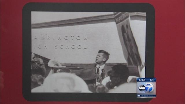 Woman discovers historic photos of JFK's Barrington High School visit