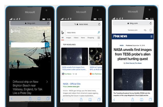 Bing implements Google's fast-loading AMP tech