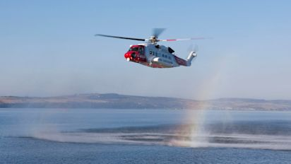 Coastguard launches rescue operation after private helicopter carrying five people goes missing