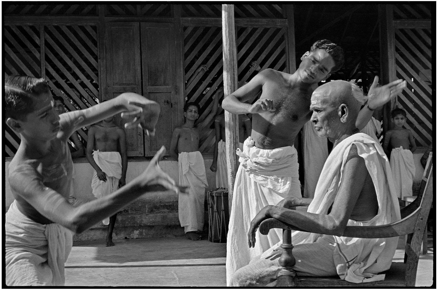 culture kathakali training black and white henri cartier-bresson