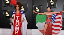 Stars make a political statement on the 2020 Grammy Awards red carpet