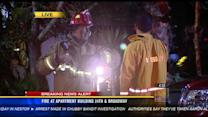 Crews battle fire at apartment building in Golden Hill