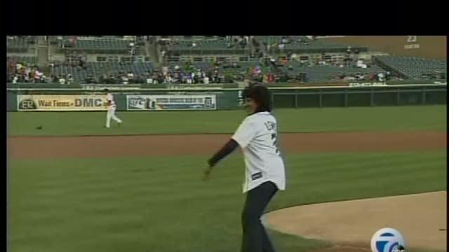 Diana Lewis delivered first pitch at Tigers game