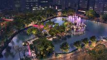 宛如夜間華麗宮殿!台中公園七夕浪漫點燈